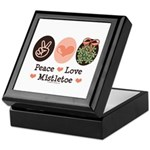 Peace Love Mistletoe Christmas Keepsake Box