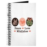 Peace Love Mistletoe Christmas Journal