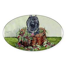 Brussels Basket Griffon Dog Oval Decal