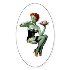 zombie pin-up girl Decal