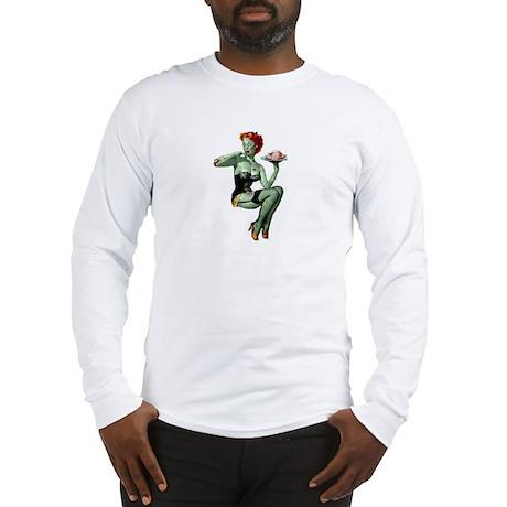 zombie pin-up girl Long Sleeve T-Shirt