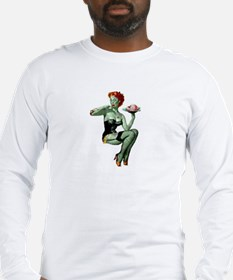 zombie pin-up girl Long Sleeve T-Shirt