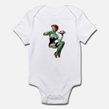 zombie pin-up girl Infant Bodysuit