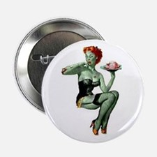 "zombie pin-up girl 2.25"" Button (10 pack)"