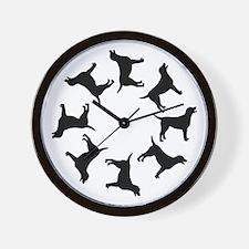 Labrador Dogs Circle Wall Clock