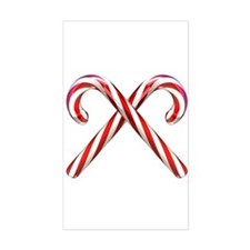 3D Candy Canes Rectangle Decal