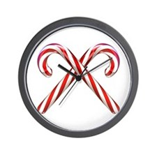 3D Candy Canes Wall Clock