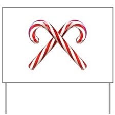 3D Candy Canes Yard Sign
