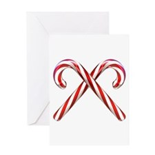 3D Candy Canes Greeting Card
