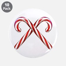 """3D Candy Canes 3.5"""" Button (10 pack)"""