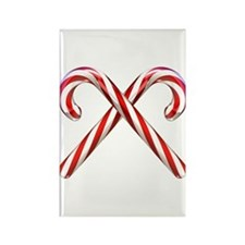 3D Candy Canes Rectangle Magnet