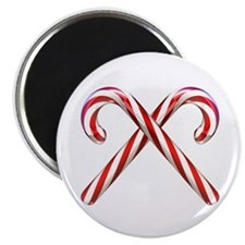 """3D Candy Canes 2.25"""" Magnet (10 pack)"""