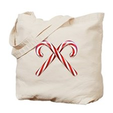 3D Candy Canes Tote Bag