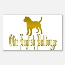 Olde English Bulldogge Gold Decal