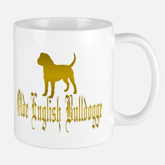 Olde English Bulldogge Gold Mugs