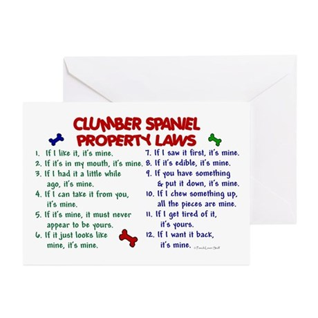 Clumber Spaniel Property Laws 2 Greeting Cards (Pk