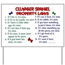 Clumber Spaniel Property Laws 2 Yard Sign
