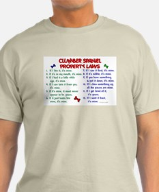 Clumber Spaniel Property Laws 2 T-Shirt