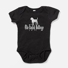 Olde English Bulldogge White Baby Bodysuit