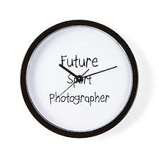 Future Sport Photographer Wall Clock