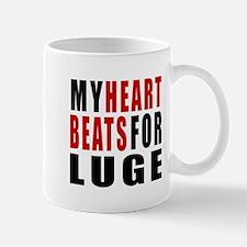 My Hear Beats For Luge Mug