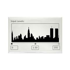 NYC Skyline Histogram Rectangle Magnet