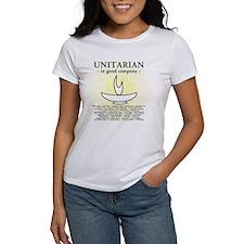 """Unitarian In Good Company"" Women's Basic T-Shirt"