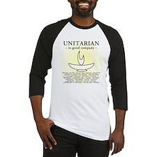 """Unitarian In Good Company"" Baseball Jersey"