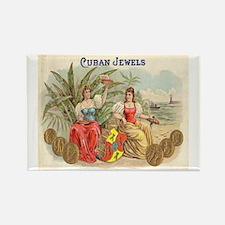 Cuban Jewels Cigar Art Rectangle Magnet