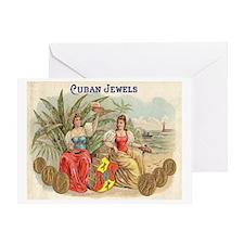 Cuban Jewels Cigar Art Greeting Card