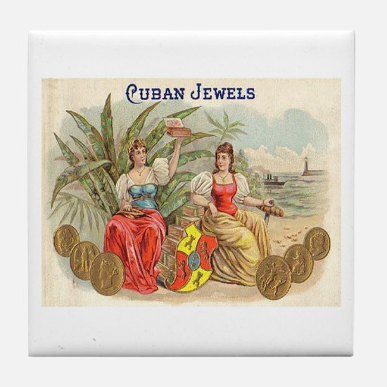 Cuban Jewels Cigar Art Tile Coaster