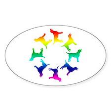 Rainbow Labs Circle Oval Decal
