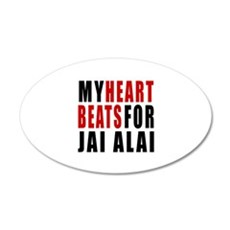 My Hear Beats For Jai Alai Wall Decal