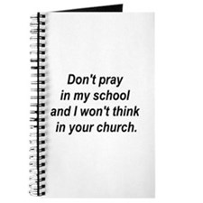 Don't pray in my school and I Journal