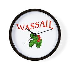 WASSAIL Christmas Wall Clock