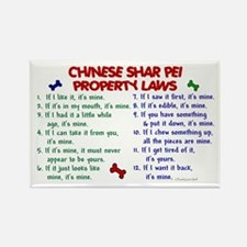 Chinese Shar Pei Property Laws 2 Rectangle Magnet