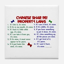 Chinese Shar Pei Property Laws 2 Tile Coaster