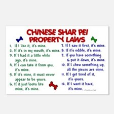 Chinese Shar Pei Property Laws 2 Postcards (Packag