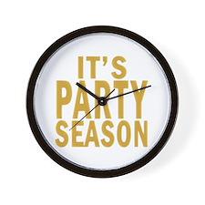 It's Party Season Wall Clock