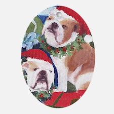 Unique Bulldog holidays Oval Ornament