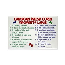 Cardigan Welsh Corgi Property Laws 2 Rectangle Mag