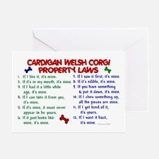 Cardigan Welsh Corgi Property Laws 2 Greeting Card