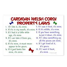 Cardigan Welsh Corgi Property Laws 2 Postcards (Pa