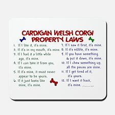 Cardigan Welsh Corgi Property Laws 2 Mousepad
