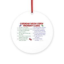 Cardigan Welsh Corgi Property Laws 2 Ornament (Rou