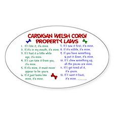 Cardigan Welsh Corgi Property Laws 2 Decal