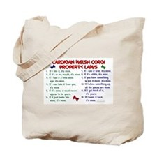 Cardigan Welsh Corgi Property Laws 2 Tote Bag