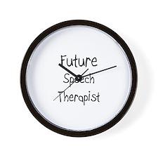 Future Speech Therapist Wall Clock