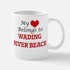 My Heart Belongs to Wading River Beach New Yo Mugs