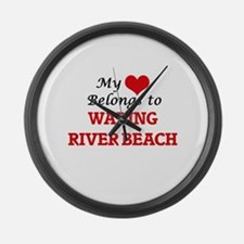 My Heart Belongs to Wading River Large Wall Clock